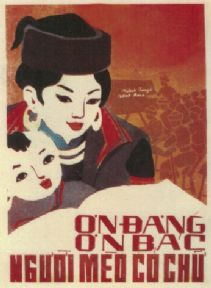 Vintage Vietnam Propaganda Poster, Woman and Child
